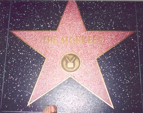 Monkee's star on H'wood Blvd.